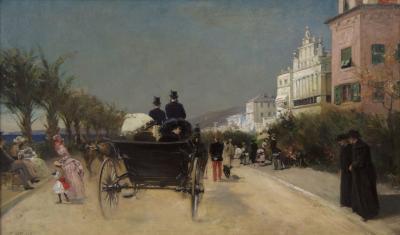 Gabriel Edouard Nicole Gabriel Nicolet French 1856 1921 Painting of Nice circa 1883