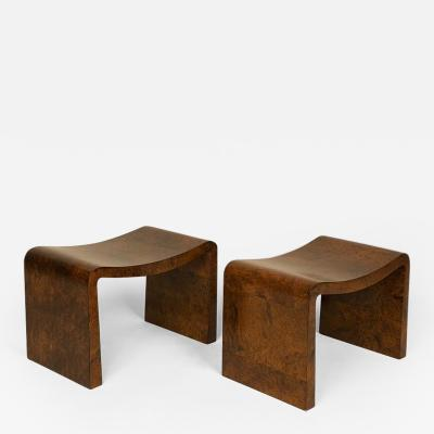 Gabriel Guevrekian Rare pair of curule stools from the estate of Madame Helene Rochas