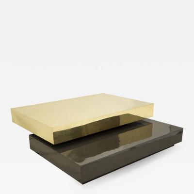 Gabriella Crespi Coffee table in brass by Gabriela Crespi circa 1970