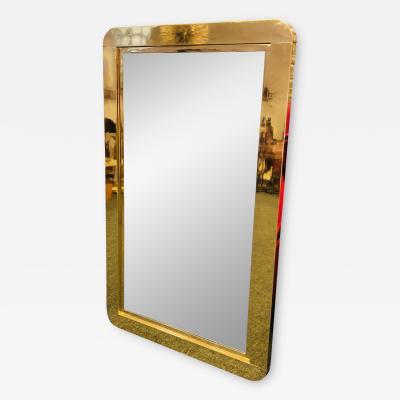 Gabriella Crespi Exceptional Brass Modern Mirror in the Manner of Gabriella Crespi