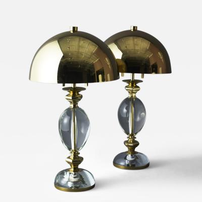 Gabriella Crespi Pair of Lamps by Gabriella Crespi