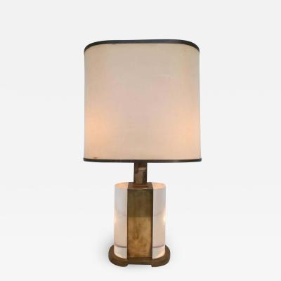 Gabriella Crespi Rare Table Lamp Signed Gabriella Crespi