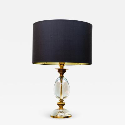 Gabriella Crespi Rare table lamp by Gabriella Crespi Italy circa 1970 signed