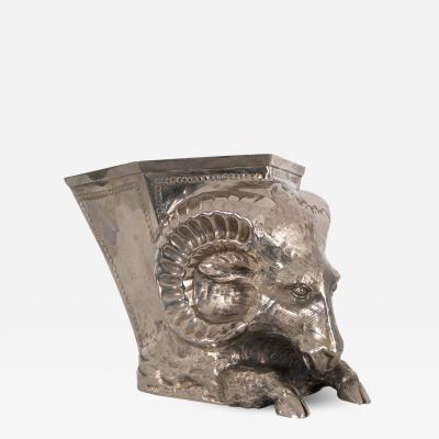 Gabriella Crespi Silver plated vase by Gabriella Crespi