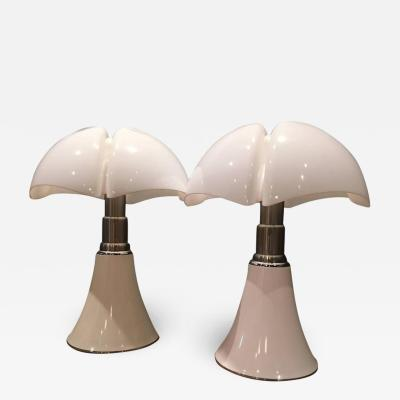 Gae Aulenti Colosal Pair of Gae Aulenti Pipipstrello Lamps 1965