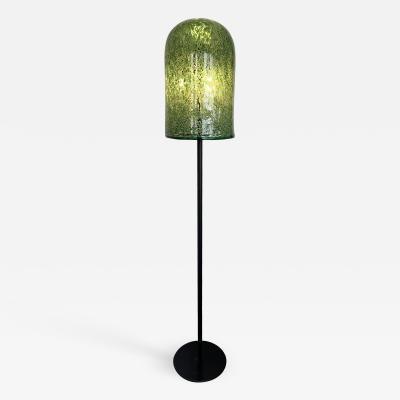 Gae Aulenti Floor Lamp Murano Glass Metal by Gae Aulenti for Vistosi Italy 1970s
