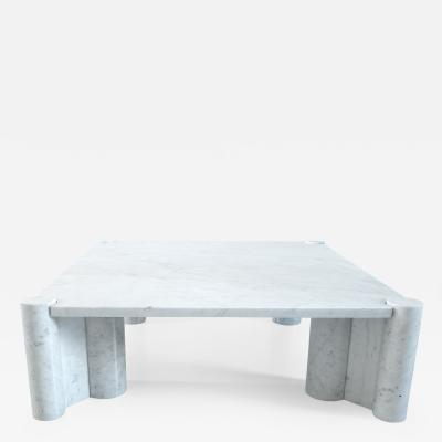 Gae Aulenti Gae Aulenti Jumbo Table in Carrara Marble Early Knoll Production 1965 1967