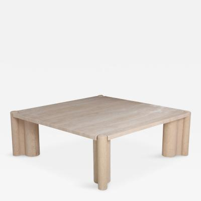 Gae Aulenti Gae Aulenti Jumbo Travertine Square Coffee Table 1965