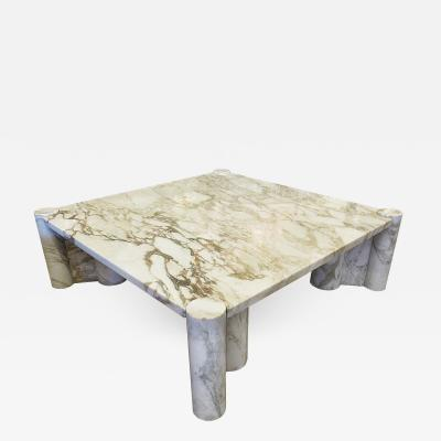 Gae Aulenti Italian Modern Carrera Marble Jumbo Low Table