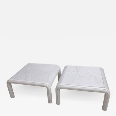 Gae Aulenti Rare Pair of Marble Coffee or Sofa Tables by Gae Aulenti for Knoll Italy 1970s