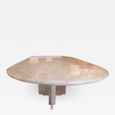 Gae Aulenti Sculptural table in clear Rosso marble by Gae Aulenti