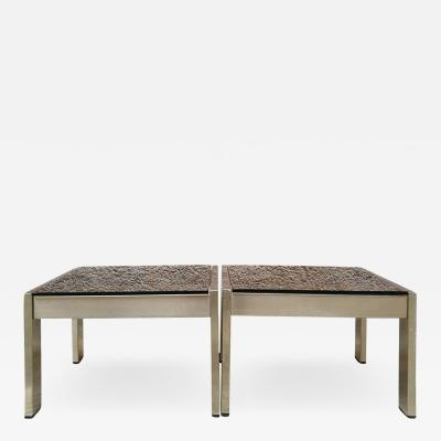 Gae Aulenti Set of 2 coffee tables by Gae Aulenti 1970s
