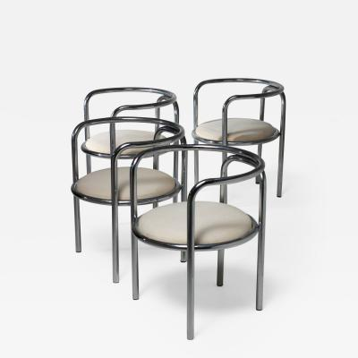 Gae Aulenti Set of Four Locus Solus Armchairs by Gae Aulenti for Poltronova