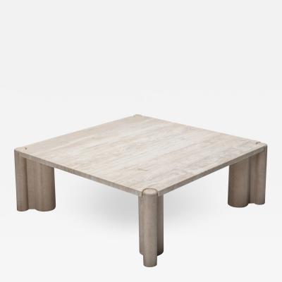 Gae Aulenti Travertine coffee table Jumbo by Gae Aulenti 1970s