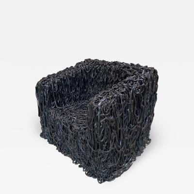 Gaetano Pesce Gaetano Pesce Black Silicone curb chair Senza Fine for Meritalia 2010