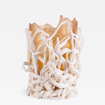 Gaetano Pesce Gaetano Pesce Orange White Resin Vase 1996