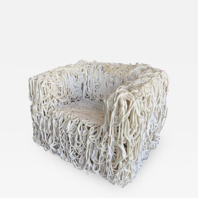 Gaetano Pesce Gaetano Pesce White Silicone Curb Chair Senza Fine for Meritalia 2010