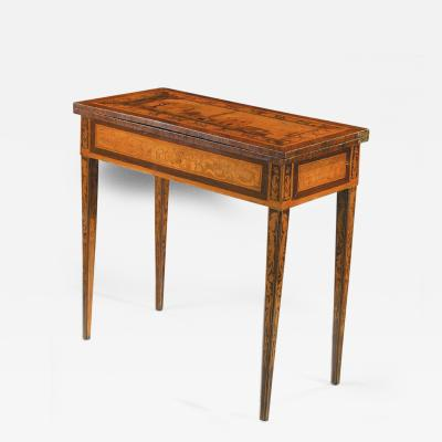 Gaetano Renoldi An Inlaid and Veneered Wood Neoclassic Card Table