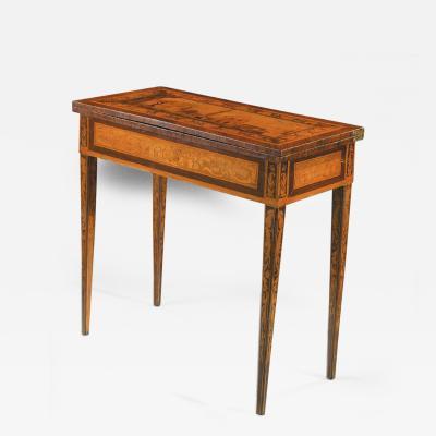 Gaetano Renoldi An Inlaid and Veneered Wood Neoclassic Card Table