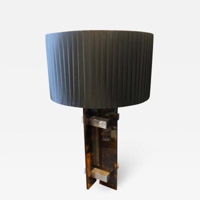 Gaetano Sciolari 1970s Gaetano Sciolari Mid Century Modern Lucite and Steel Italian Table Lamp