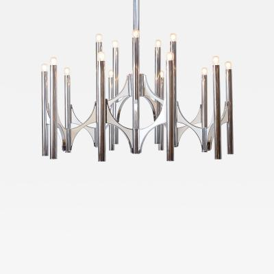 Gaetano Sciolari Gaetano Sciolari 15 Light Chromed Brass Chandelier