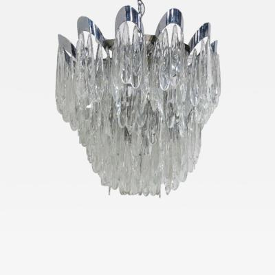 Gaetano Sciolari Gaetano Sciolari Chrome and Crystal chandelier