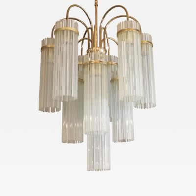 Gaetano Sciolari Gaetano Sciolari for Lightolier 1960s Glass Rod Chandelier