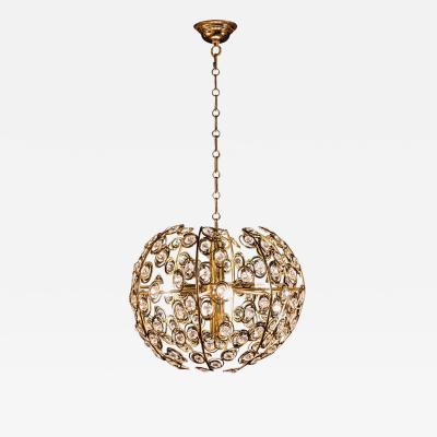 Gaetano Sciolari Globe and Diamond Crystal Midcentury Chandelier by Gaetano Sciolari 1960