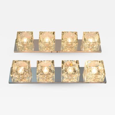 Gaetano Sciolari Pair of Mid Century Wall Lights with Cubist Design by Sciolari for Lightolier