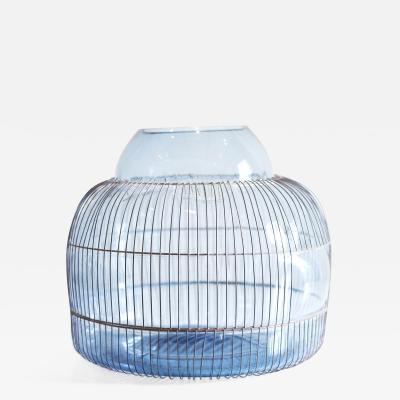 Gala Fern ndez Montero BLUE LARGE VESSEL glass object vase vessel