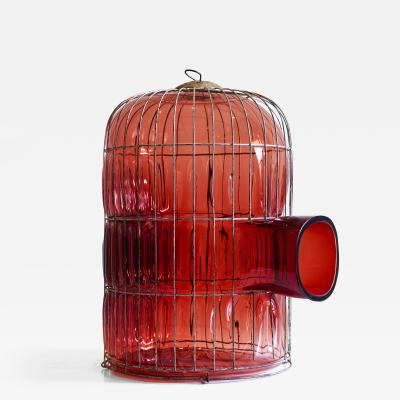 Gala Fern ndez Montero RED LARGE GLASS CAGE