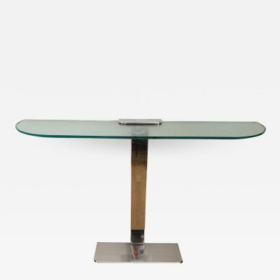Gallotti Radice Console in Chrome and Glass