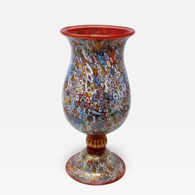 Gambaro Poggi Murrine Murano Vase by Gambaro