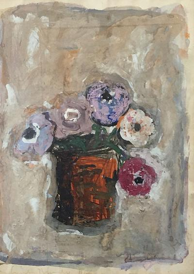 Gandy Brodie Flowers in a Rusted Can