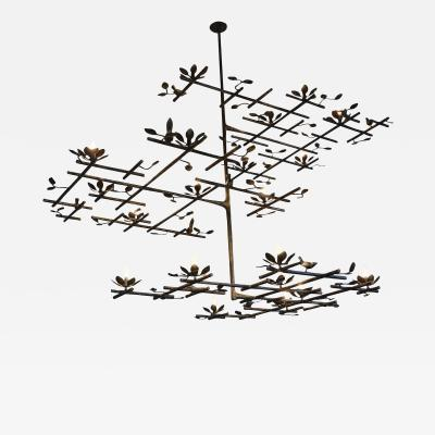 Garden Chandelier with Bronze Finish