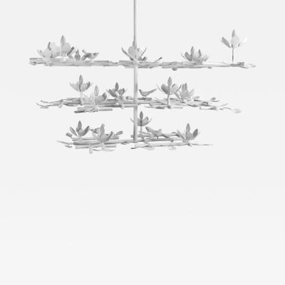 Garden Chandelier with White Finish