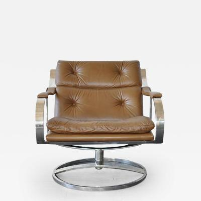 Gardner Leaver Gardner Leaver for Steelcase Leather Lounge Chair