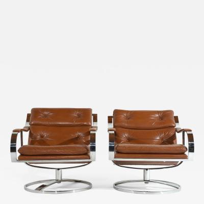 Gardner Leaver Pair of Mid Century Modern Gardner Leaver Lounge Chairs