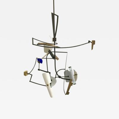 Gareth Devonald Smith PIECE N 2 WITH COBALT GOLD AND BRONZE Chandelier
