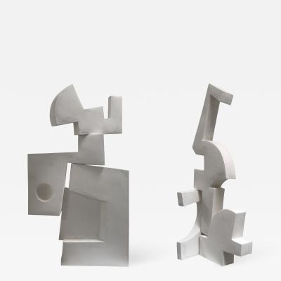 Gareth Devonald Smith Pair of Modernist Sculptures