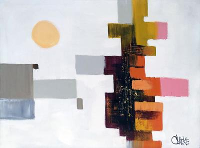 Gary Andrew Clarke Modernist Abstract Painting