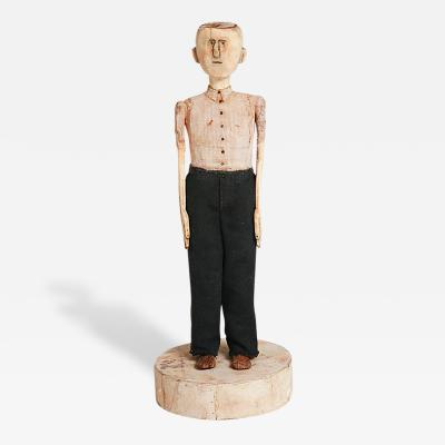 Gary Birch Carved Male Figure Modern Folk Art
