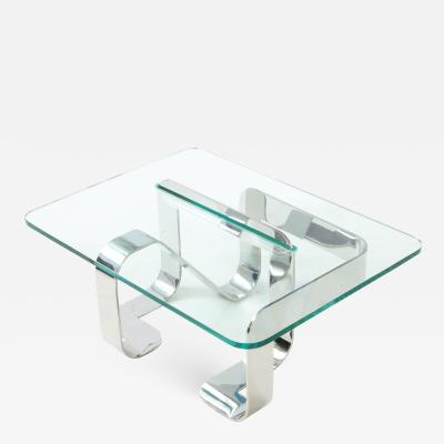 Gary Gutterman Gary Gutterman Sculptural Cocktail Table in Steel and Glass