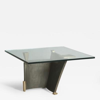 Gary Magakis Gary Magakis Bronze and Steel Sculptural Low Table USA 2015