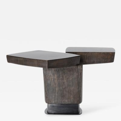 Gary Magakis Gary Magakis Ledges 2 Patined Steel Side Table USA 2016