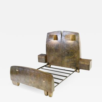 Gary Magakis Sculptural Bronze Bed USA