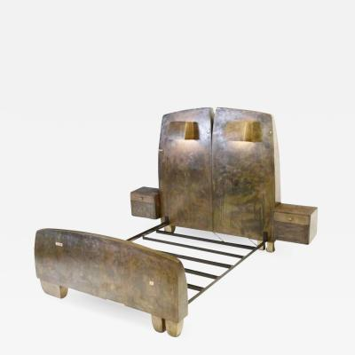 Gary Magakis Sculptural Bronze Bed by Gary Magakis