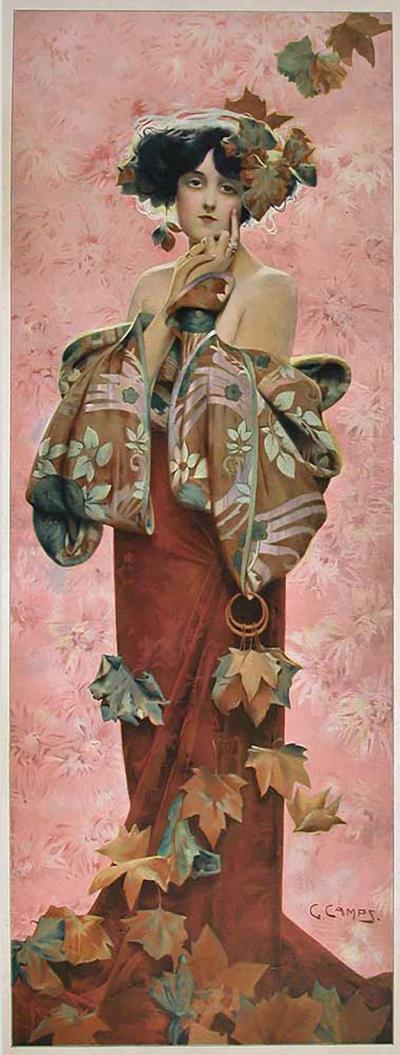 Gaspar Camps Quot Fall Quot A French Art Nouveau Period