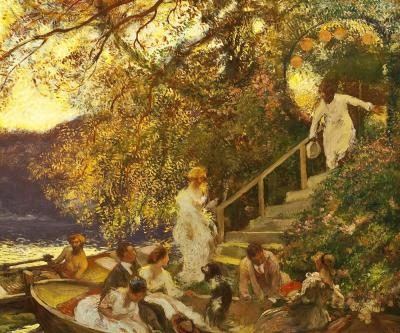Gaston La Touche Lembarquement The Embarkation