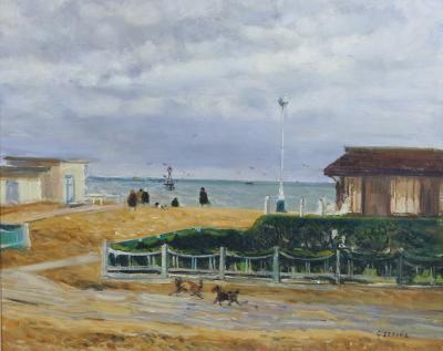 Gaston Sebire At The Seaside by Gaston Sebire